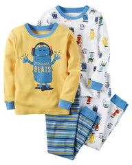 Set de pijamas 4 piezas - Monster - bebe2go.com