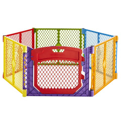 Corral Portatil Con Puerta Abatible - Superyard Color Play - bebe2go.com  - 2