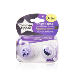 Chupon Nocturno 0-6 (2 Pz) | Chupones | Tommee Tippee - Bebe2go.com