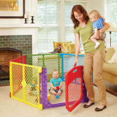 Corral Portatil Con Puerta Abatible - Superyard Color Play - bebe2go.com  - 1