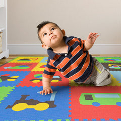 Playmat Transportes Multicolor 1.22x1.22m - bebe2go.com  - 1
