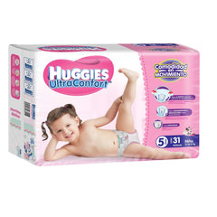 Huggies Ultraconfort E5 Niña Paq. 31