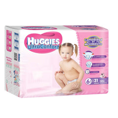 Huggies Ultraconfort E6 Niña Paq. 31