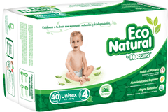 Huggies Eco Natural E4 (40 pañales) - bebe2go.com  - 1