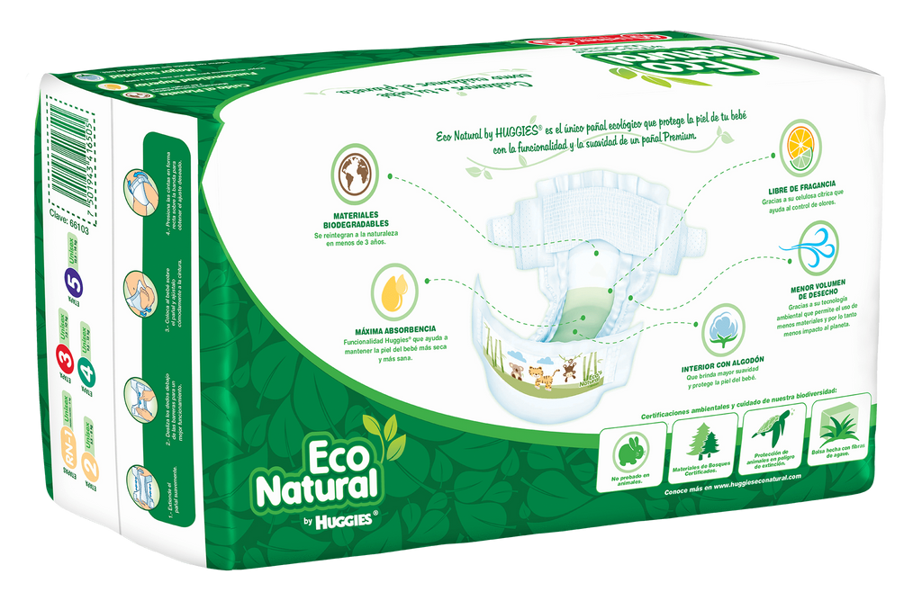 Huggies Eco Natural E3 (40 pañales) - bebe2go.com  - 2