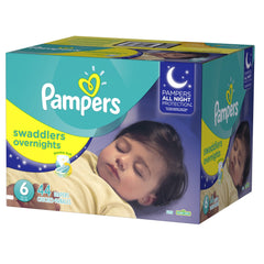 Pampers Swaddlers Overnight Etapa 6 - 44 Pañales - bebe2go.com