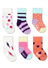 Set de 6 pares de Calcetines Niña - Caja Puntos | Calcetines | Happy Socks - Bebe2go.com