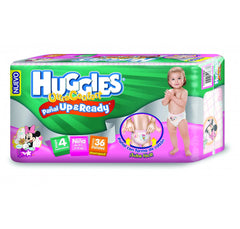 Huggies Ultraconfort Up&Ready E4 Niña Paq. 36 | Pañales | Huggies Ultraconfort U&R - Bebe2go.com