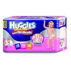 Huggies Ultraconfort Up&Ready E5 Niña Paq. 36 | Pañales | Huggies Ultraconfort U&R - Bebe2go.com
