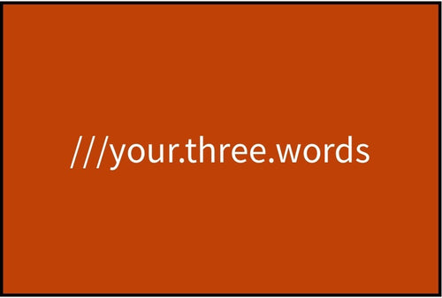 what3words - Burnt Orange