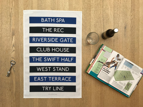 Bath Rugby Tea Towel