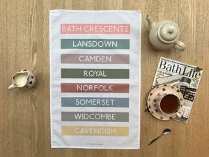 Bath Crescents Tea Towel