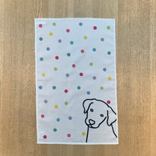 Load image into Gallery viewer, Dog on Spots Tea Towel