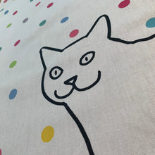 Load image into Gallery viewer, Cat on Spots Tea Towel
