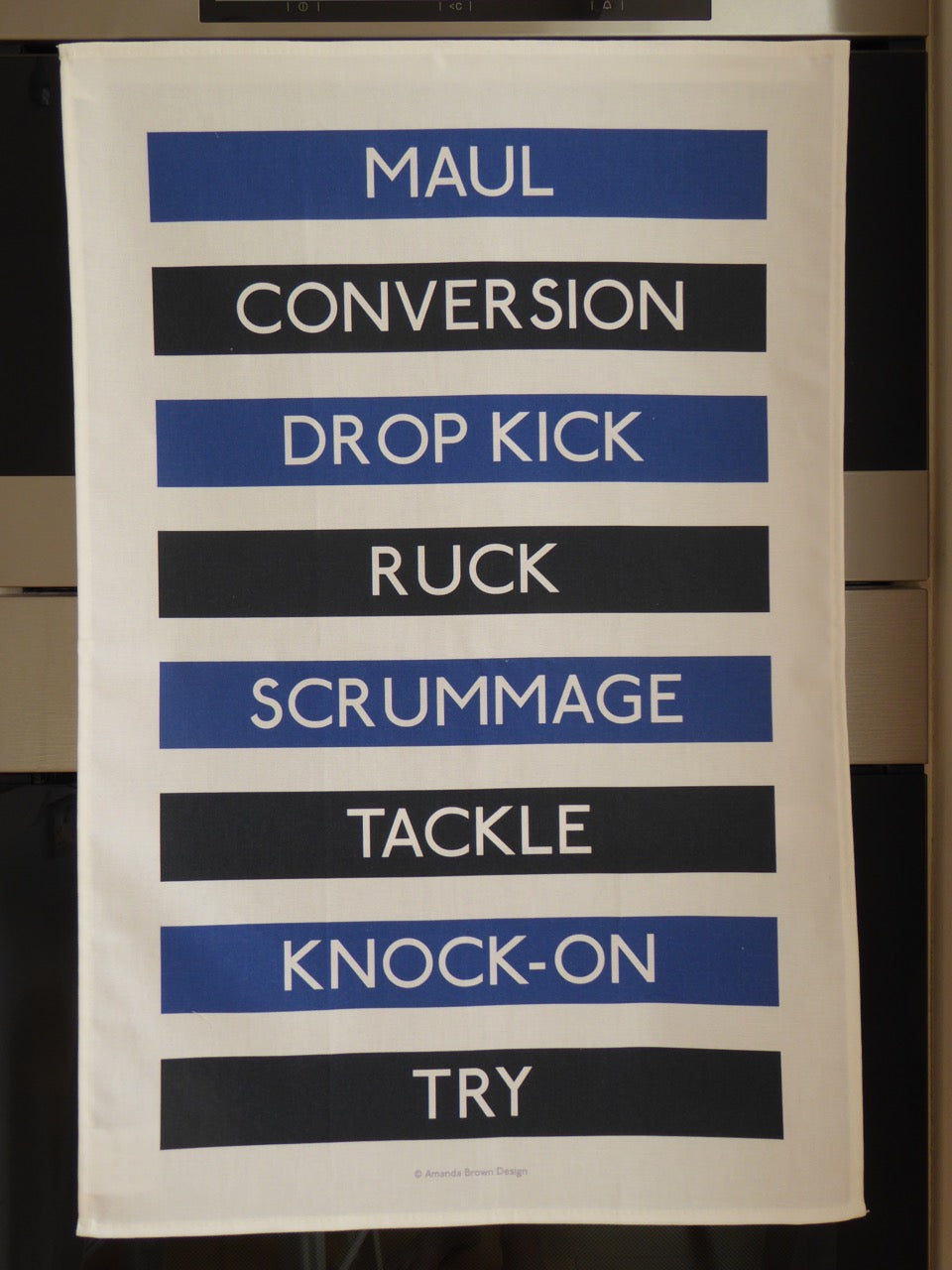 Rugby Terms Tea Towel