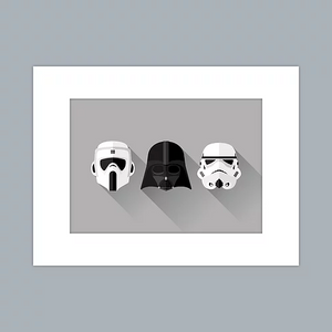 Vader and Troopers Print