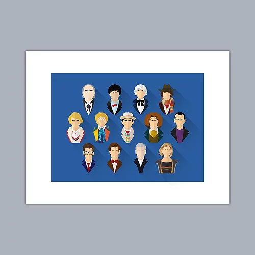 Dr Who - The Doctors Print