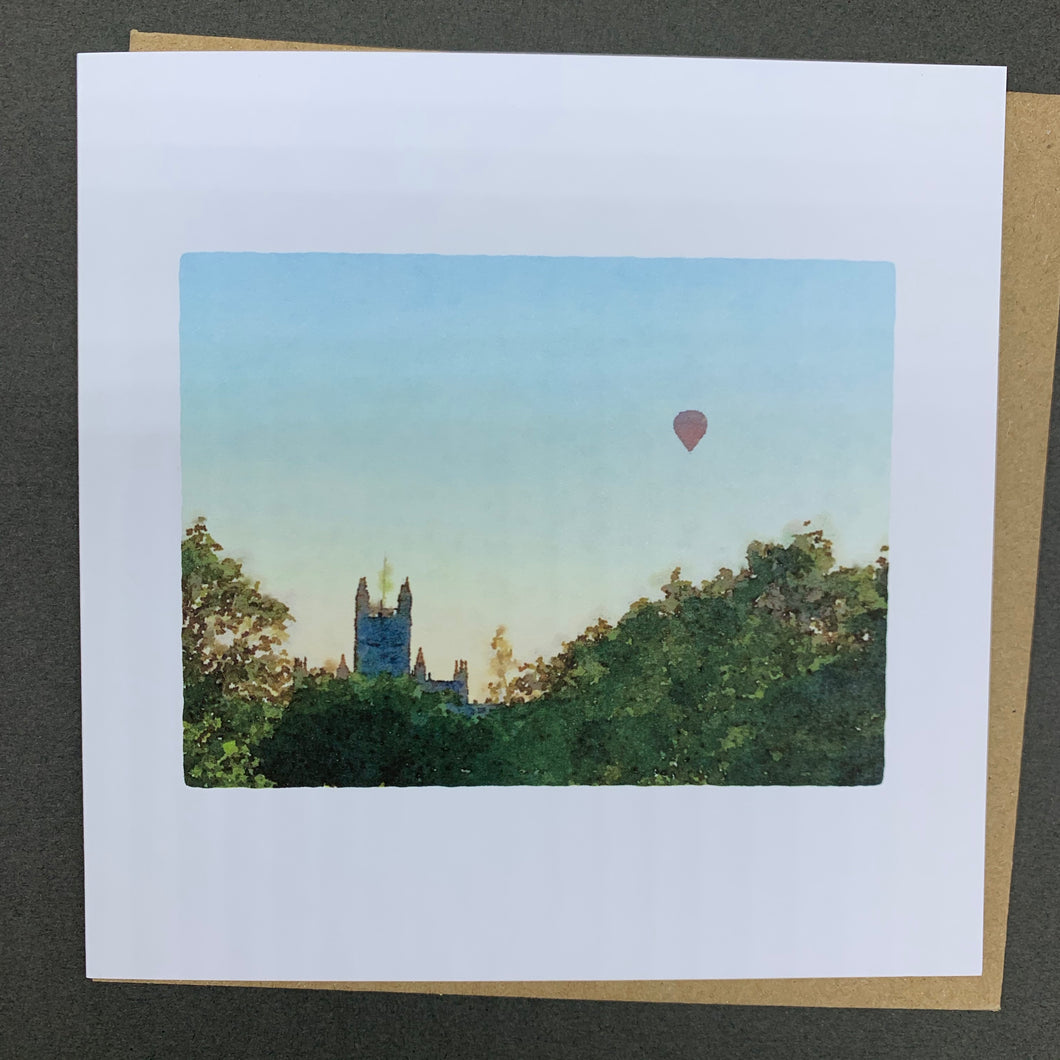 Bath Abbey and Balloon
