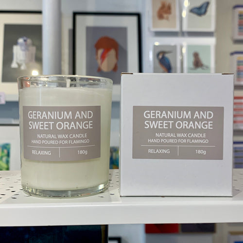Geranium and Sweet Orange Candle