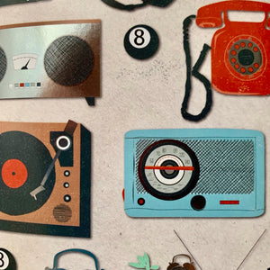 Radios and Record Players Gift Wrap