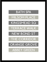 Load image into Gallery viewer, Bath Shopping Destination Framed Print