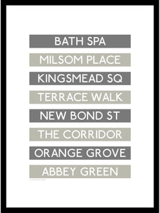 Bath Shopping Destination Framed Print