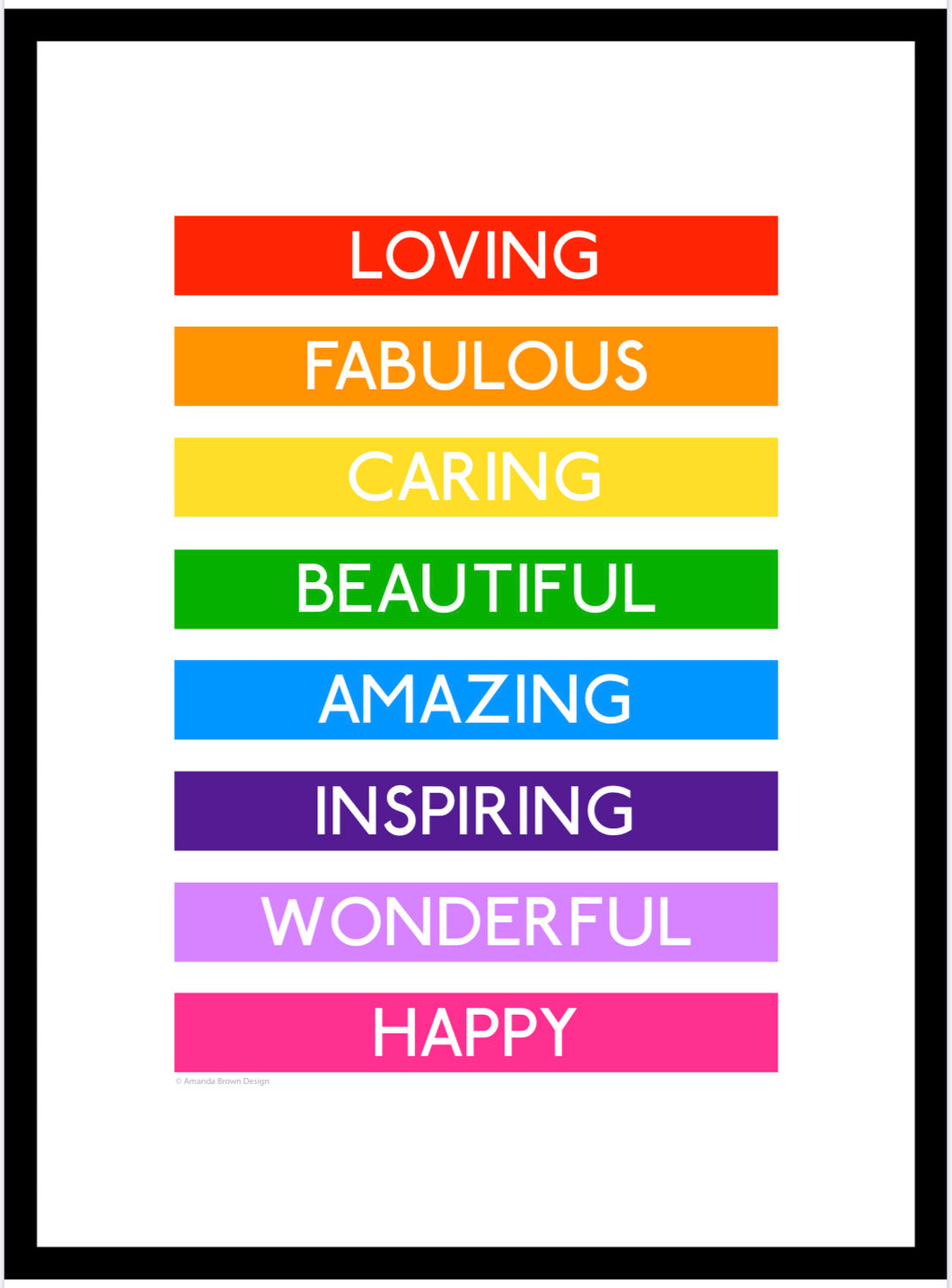 Loving Rainbow 'Destination' Framed Print