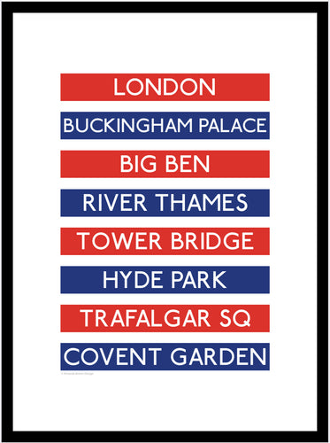 London Destination Framed Print