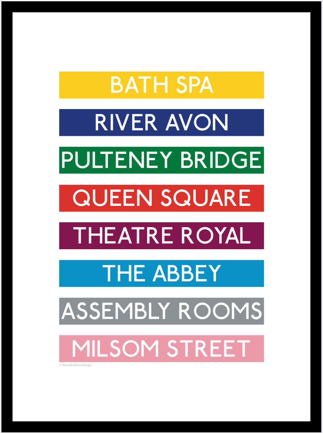 Bath Spa (No.1) Destination Framed Print