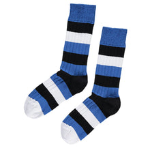 Load image into Gallery viewer, Blue, Black and White Socks