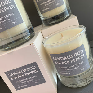 Sandalwood and Black Pepper Candle