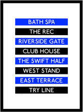 Load image into Gallery viewer, Bath Rugby Destination Framed Print