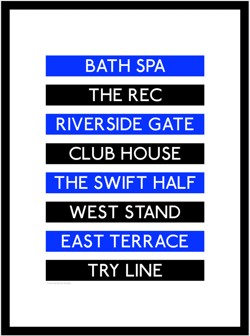 Bath Rugby Destination Framed Print