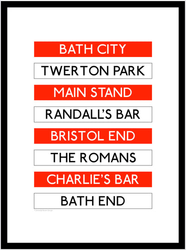 Bath City Destination Framed Print