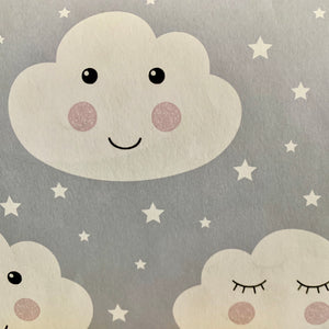 Sleepy, Smiley Face Clouds