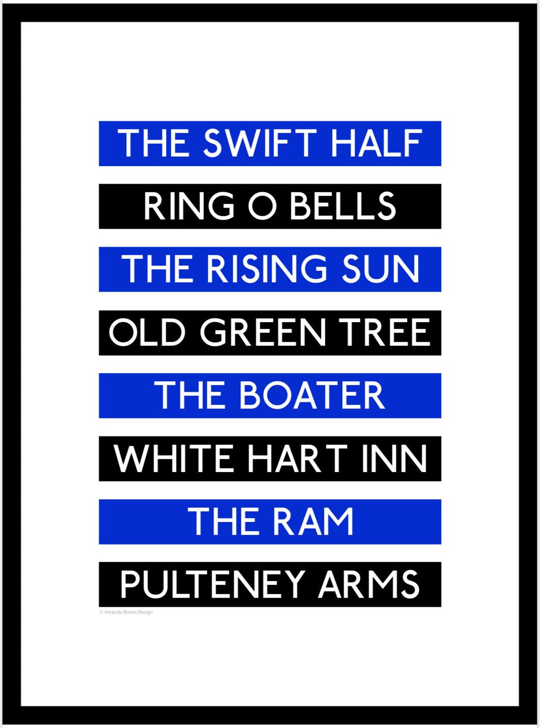 Bath Rugby Pubs Destination Framed Print