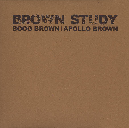 Apollo Brown & Boog Brown - Brown Study (LP)