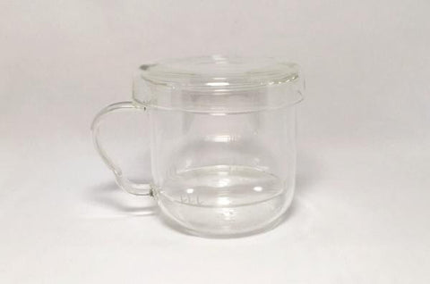 Glass Cup with Infuser & Lid 250ml