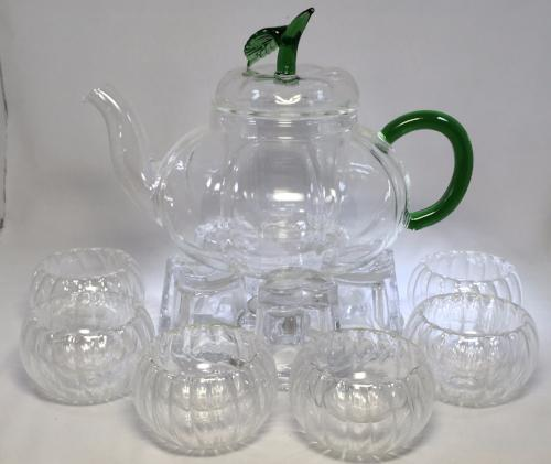 Pumpkin Glass Tea Set