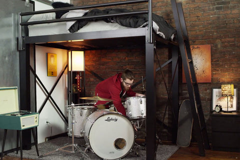 Drum Set Under Loft Bed Francis Lofts & Bunks