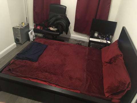 Version 2 - Notice how much floor space is taken up by just the bed.