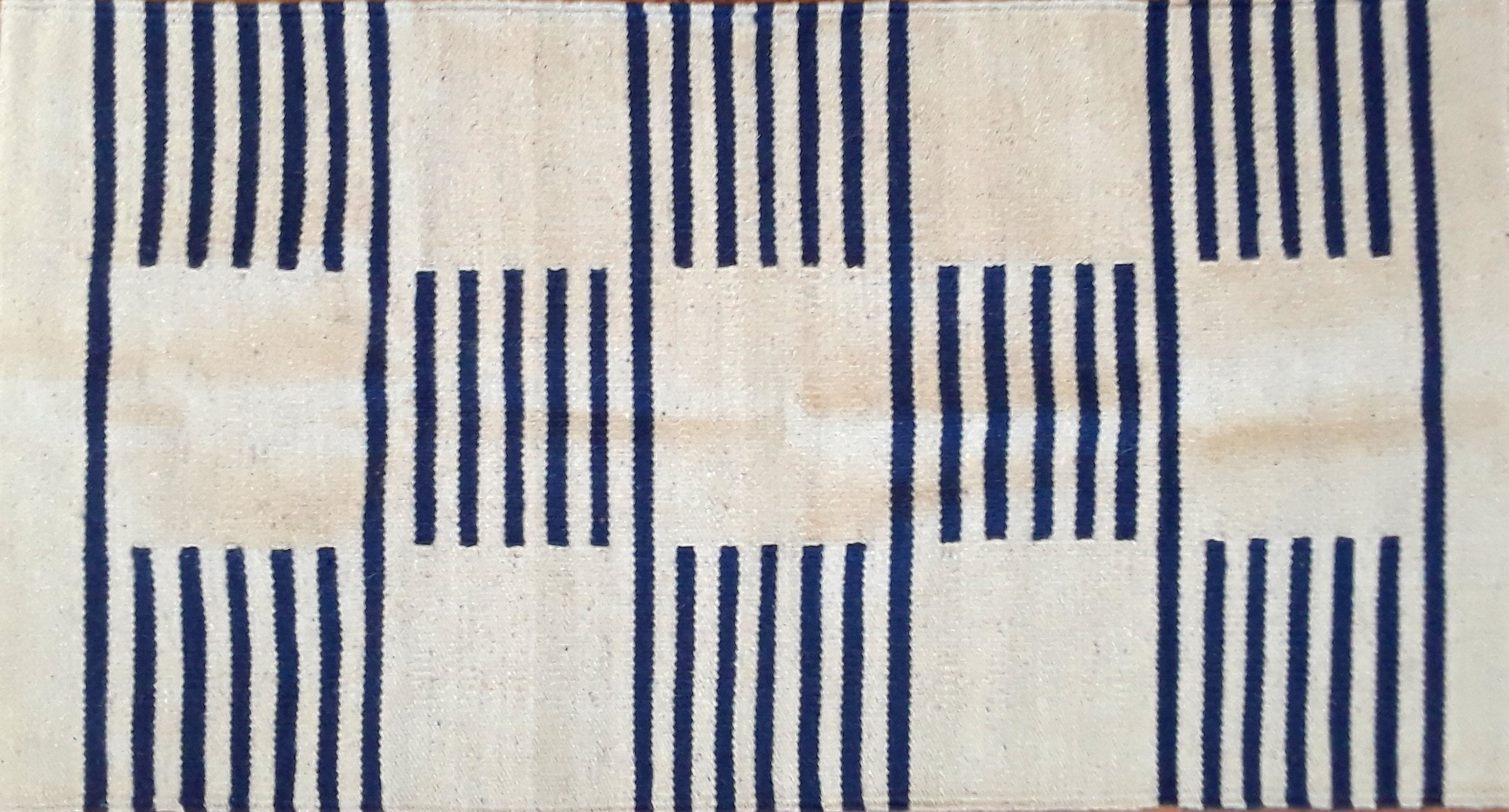 Blue Blocks Egyptian Kilim