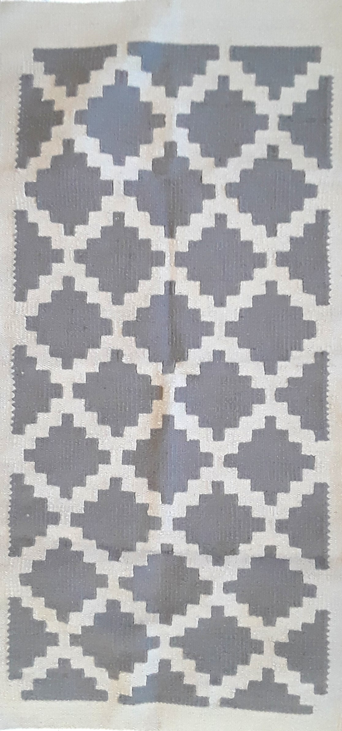 Grey Diamonds Egyptian Kilim