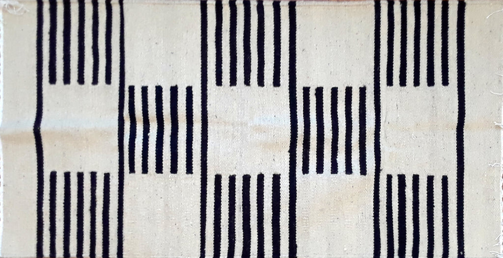 Black Blocks Egyptian Kilim
