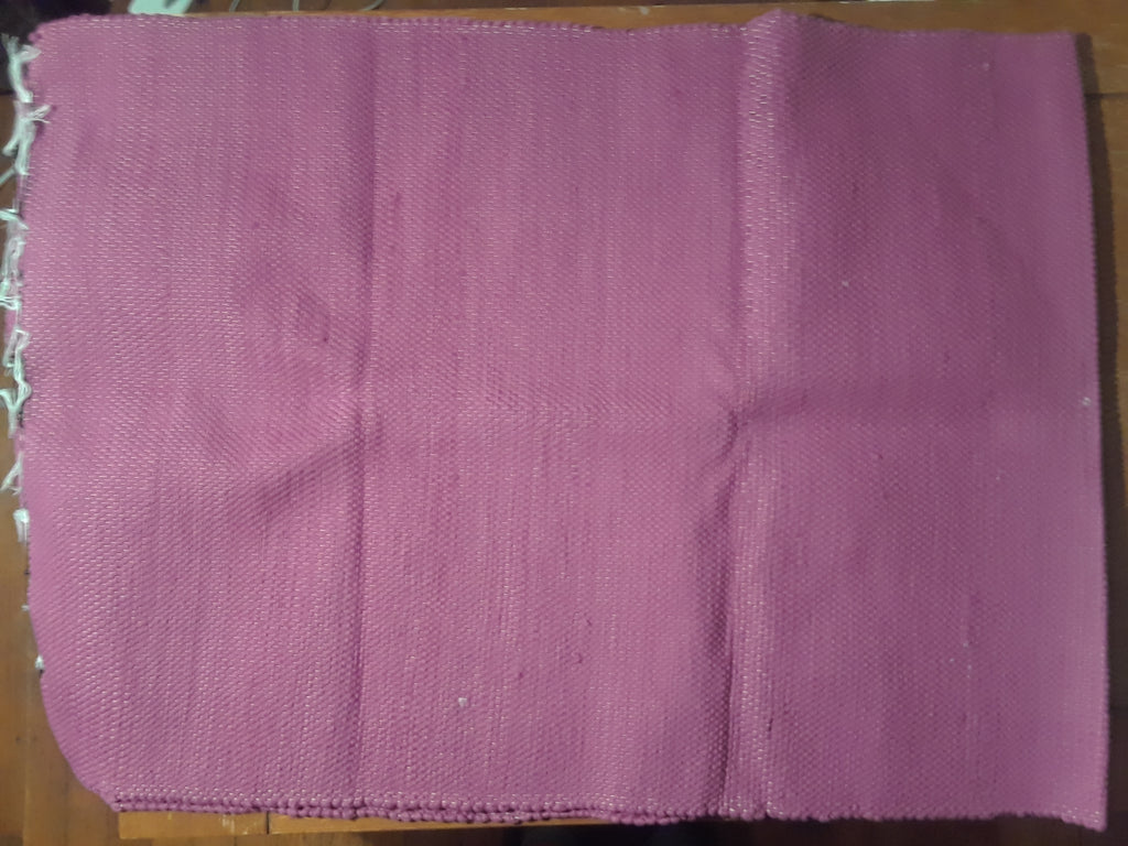 Dark Pink 100% Cotton Kilim Runner