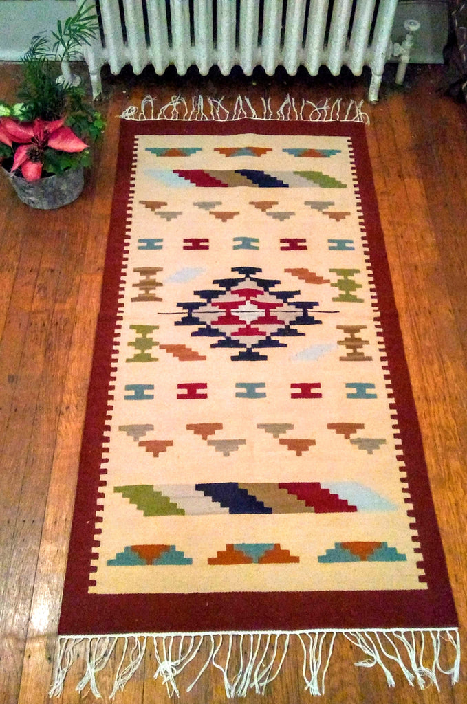 Thin Wool Tribal Kilim