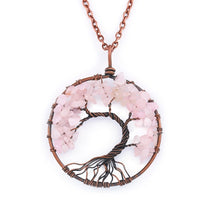 Load image into Gallery viewer, TREE of LIFE Chakra 7 Stone Healing Necklace