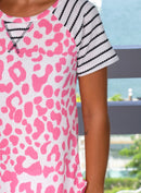 Hot Pink Printed Top
