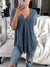 Plain V Neck Short Sleeve Asymmetrical Hem Blouses