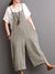 Women's Plus Size Casual Solid Pockets Loose Jumpsuits